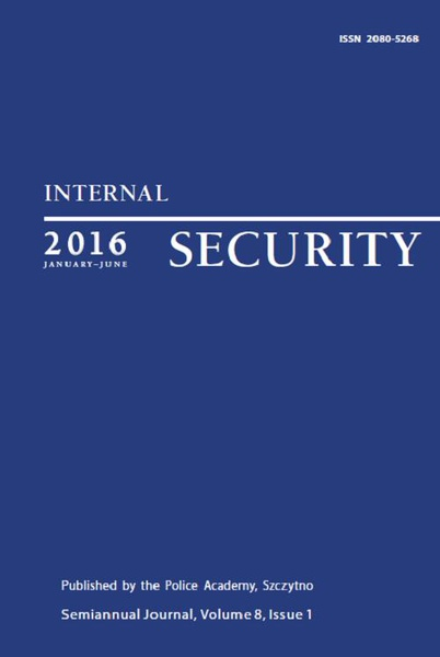 Praca Zbiorowa - Internal Security (January-June) Vol. 8/1/2016