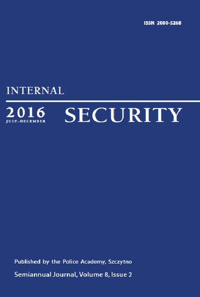Praca Zbiorowa - Internal Security (July-December 2016) Vol. 8/2/2016